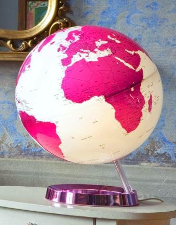 bola mundo color rosa