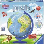 puzzle 3d bola mundo