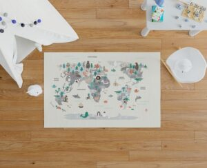 Alfombra mapamundi